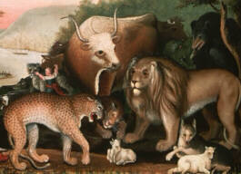 Peaceable Kingdom, detail, Edward Hicks, 1844-1845, Microsoft(R) Encarta(R) 98 Encyclopedia, (c) 1993-1997 Microsoft Corporation.